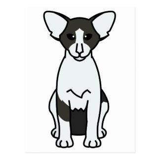 Dibujo animado bicolor oriental del gato postal