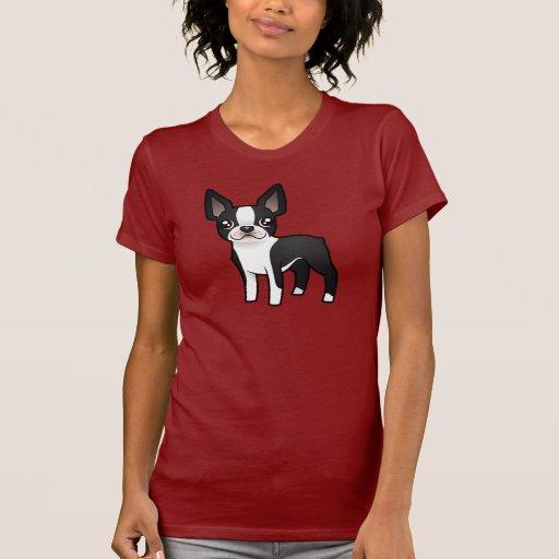Dibujo animado Boston Terrier Camiseta
