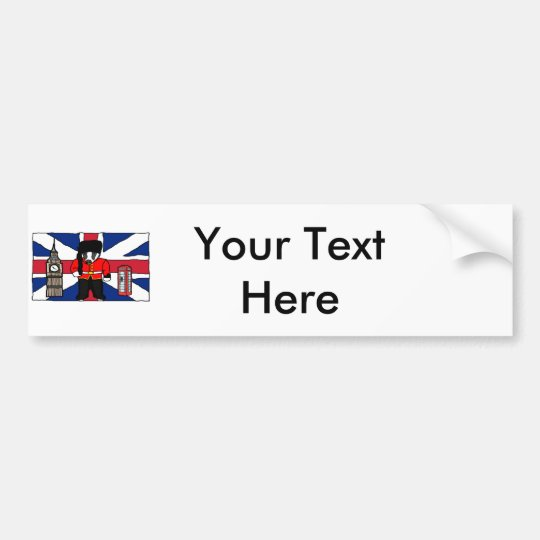 Dibujo animado británico de la cabina de teléfono pegatina para coche