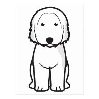 Dibujo animado catalán del perro del perro pastor postal