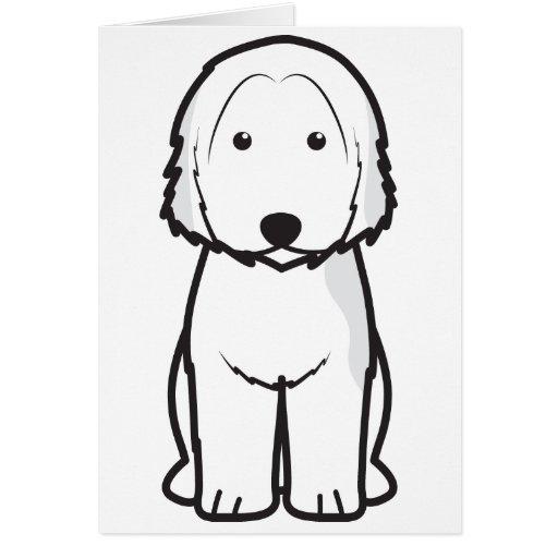 Dibujo animado catalán del perro del perro pastor felicitaciones