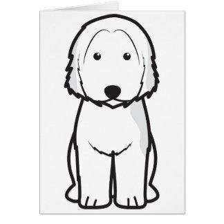 Dibujo animado catalán del perro del perro pastor tarjeta de felicitación