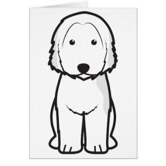Dibujo animado catalán del perro del perro pastor tarjeta pequeña