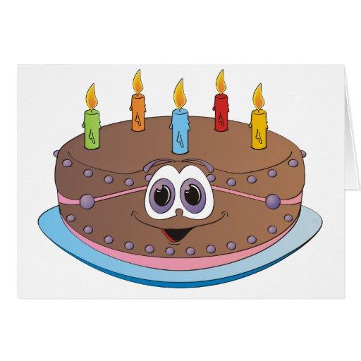 Dibujo animado colorido de las velas de la torta d felicitación ...
