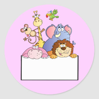 dibujo animado colorido del tablero de la muestra pegatina redonda