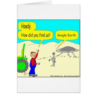 Dibujo animado de 280 Google Earth en color Tarjeta De Felicitación