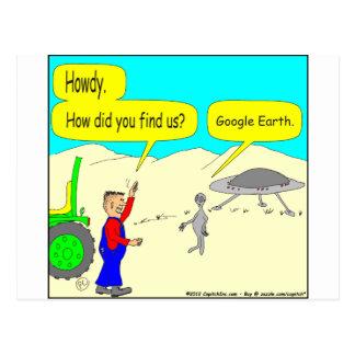 Dibujo animado de 280 Google Earth en color Postal