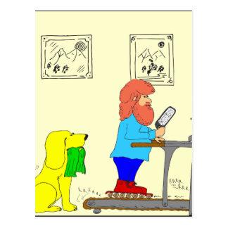 dibujo animado de 364 patín-para-ejercicios postal