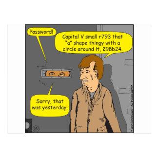 dibujo animado de 680 contraseñas postal