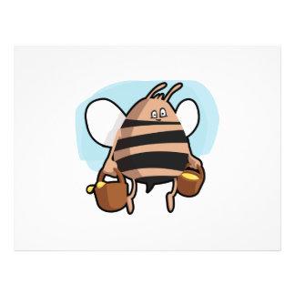 Dibujo animado de la abeja flyer