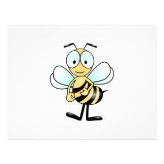 Dibujo animado de la abeja tarjetas informativas