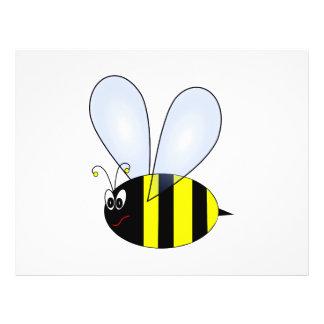 Dibujo animado de la abeja tarjetones