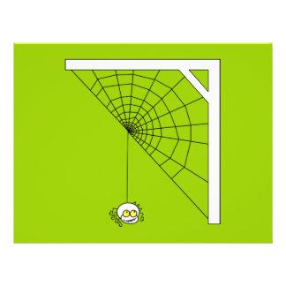 Dibujo animado de la araña tarjeta publicitaria