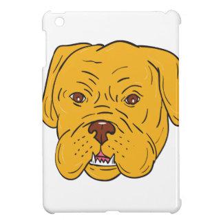 Dibujo animado de la cabeza de perro de Burdeos