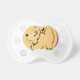 Dibujo animado de la caricatura del león chupetes de bebé