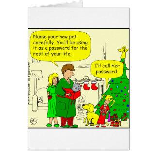 dibujo animado de la contraseña x28 tarjeta de felicitación