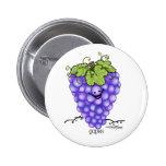 Dibujo animado de la fruta - uvas pin