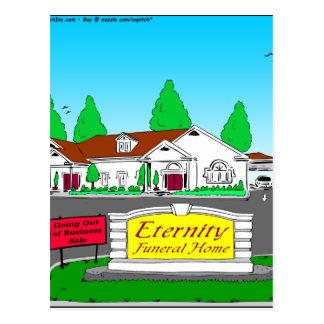 dibujo animado de la funeraria de la eternidad 797 postal