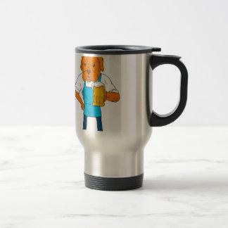 Dibujo animado de la mascota de la taza del