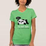 Dibujo animado de la panda linda el dormir camisetas