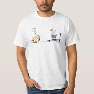 Dibujo animado de la rueda de ardilla camiseta