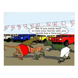 Dibujo animado de la seguridad de Humvee Tarjetas Postales