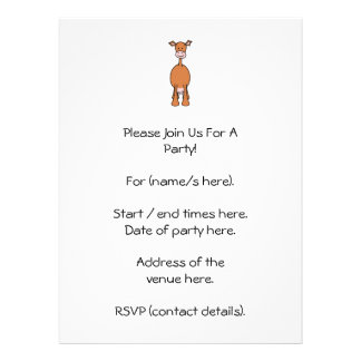 Dibujo animado de la vaca de Brown Frente Invitacion Personal