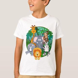 Dibujo animado de los animales del safari camiseta