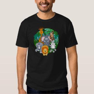 Dibujo animado de los animales del safari camisetas