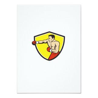Dibujo animado de perforación Jabbing del escudo Invitación 11,4 X 15,8 Cm