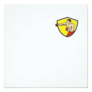 Dibujo animado de perforación Jabbing del escudo Invitación 13,3 Cm X 13,3cm