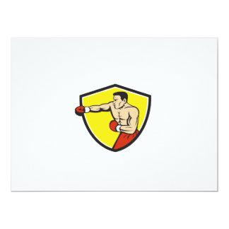 Dibujo animado de perforación Jabbing del escudo Invitación 16,5 X 22,2 Cm