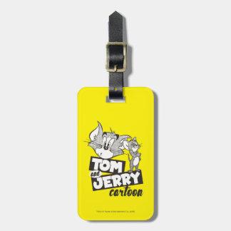 Dibujo animado de Tom y Jerry el | Tom y Jerry Etiqueta Para Maletas