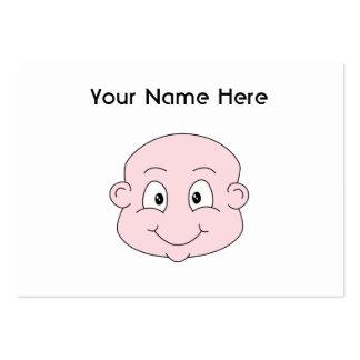 Dibujo animado de un bebé lindo, sonriendo tarjetas de visita grandes