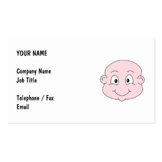 Dibujo animado de un bebé lindo, sonriendo tarjetas de visita