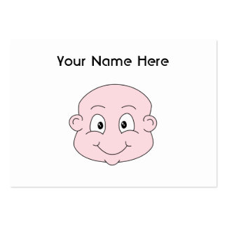 Dibujo animado de un bebé lindo sonriendo tarjetas de visita