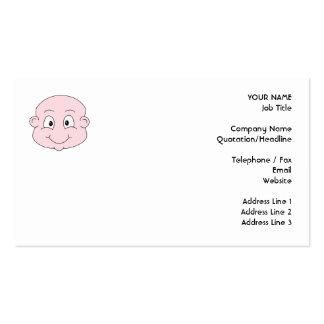 Dibujo animado de un bebé lindo sonriendo tarjeta de visita