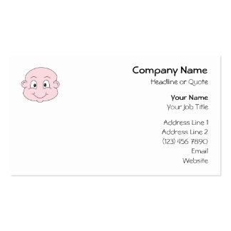 Dibujo animado de un bebé lindo, sonriendo tarjeta de visita