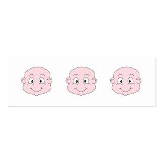 Dibujo animado de un bebé lindo, sonriendo plantillas de tarjetas personales