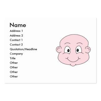 Dibujo animado de un bebé lindo sonriendo plantilla de tarjeta de negocio