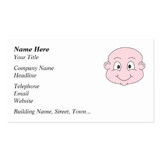 Dibujo animado de un bebé lindo sonriendo plantilla de tarjeta de visita