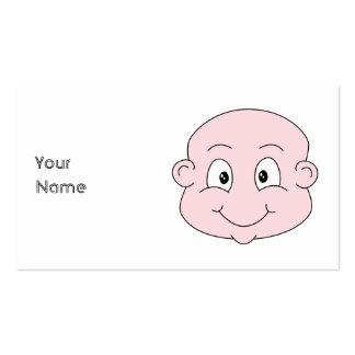 Dibujo animado de un bebé lindo, sonriendo tarjeta personal