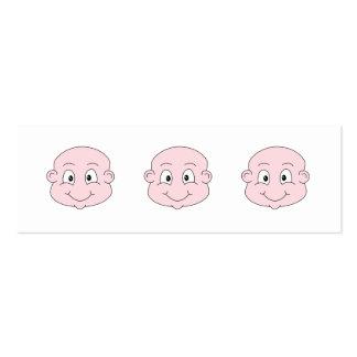 Dibujo animado de un bebé lindo, sonriendo tarjetas de visita mini