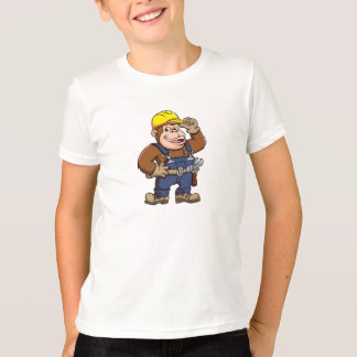Dibujo animado de una manitas del gorila camiseta