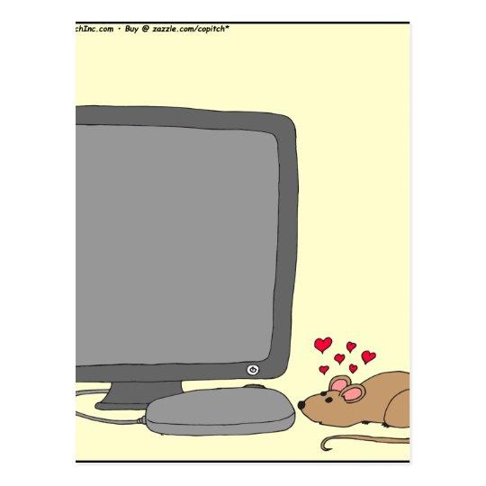 dibujo animado del amor de 640 ratones postal