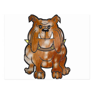 dibujo animado del barbecho     del dogo postal