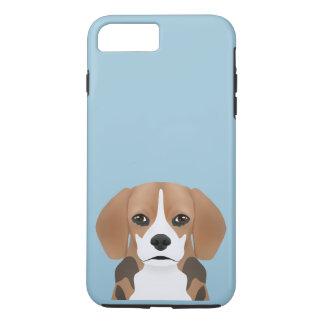 Dibujo animado del beagle funda iPhone 7 plus