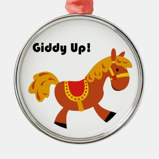 Dibujo animado del caballo de silla de montar de B Adornos