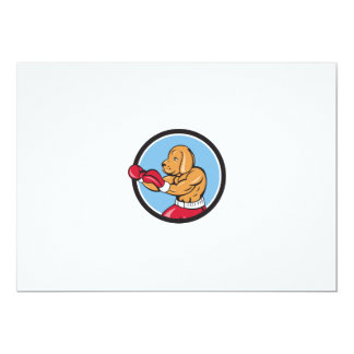 Dibujo animado del círculo de la postura del invitación 12,7 x 17,8 cm