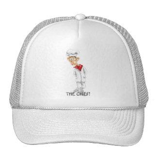 Dibujo animado del cocinero con refranes divertido gorra